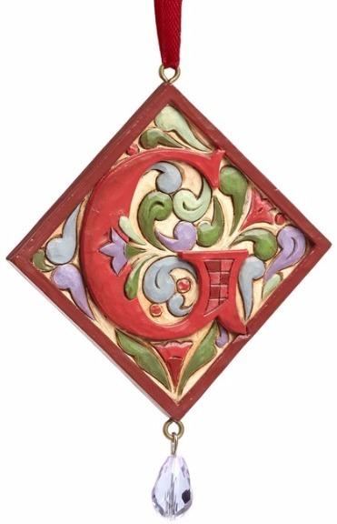 Jim Shore 4049423G Monogram G Ornament