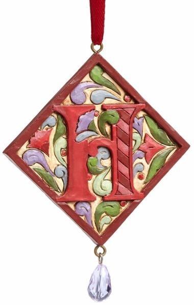 Jim Shore 4049423H Monogram H Ornament