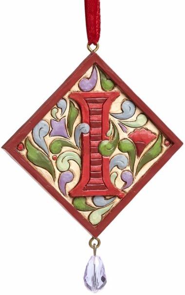 Jim Shore 4049423I Monogram I Ornament