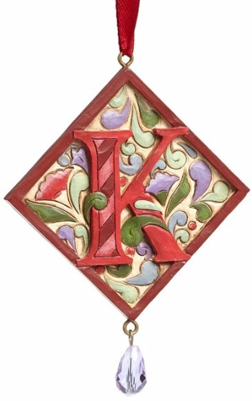 Jim Shore 4049423K Monogram K Ornament