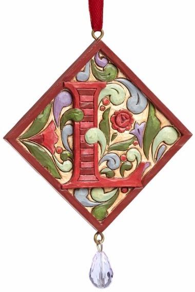 Jim Shore 4049423L Monogram L Ornament