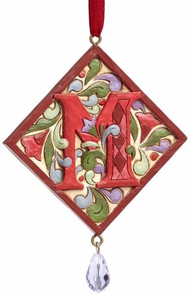 Jim Shore 4049423M Monogram M Ornament