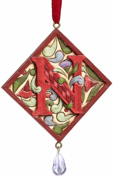 Jim Shore 4049423N Monogram N Ornament