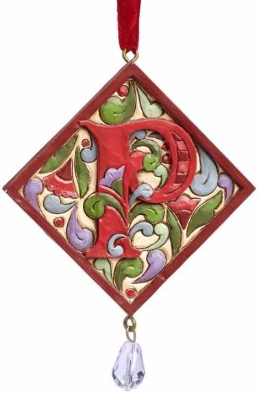 Jim Shore 4049423P Monogram P Ornament