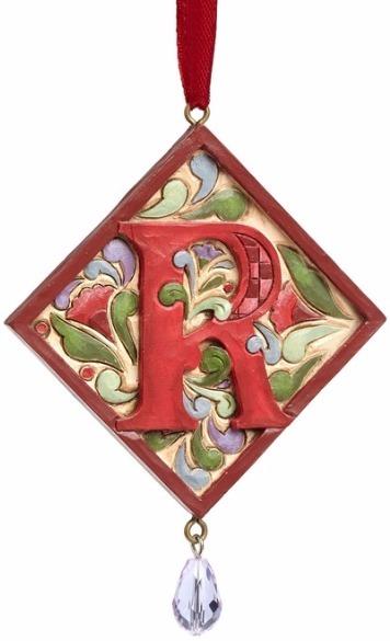Jim Shore 4049423R Monogram R Ornament