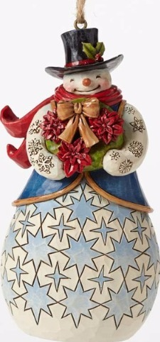 Jim Shore 4049796 Poinsettia Wreath Ornament
