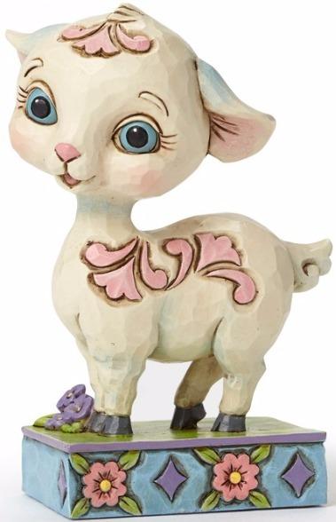 Jim Shore 4051402 Lamb Mini Figurine