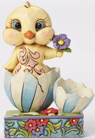 Jim Shore 4051403 Chick in Broken She Figurine