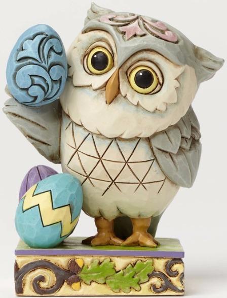 Jim Shore 4051404 Easter Owl Mini Figurine