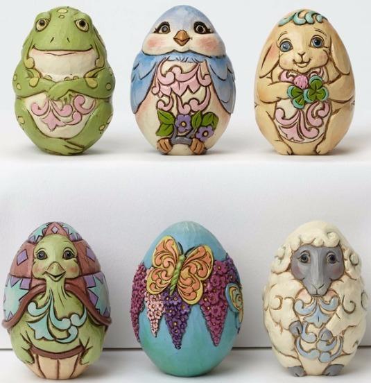 Jim Shore 4051405 6 Assorted Character Eggs Figurine