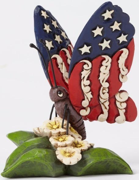 Jim Shore 4051415 Butterfly Mini Red Figurine