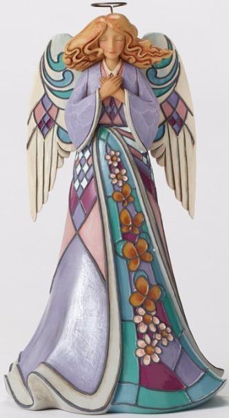 Jim Shore 4051418 Purple Angel Staine Figurine
