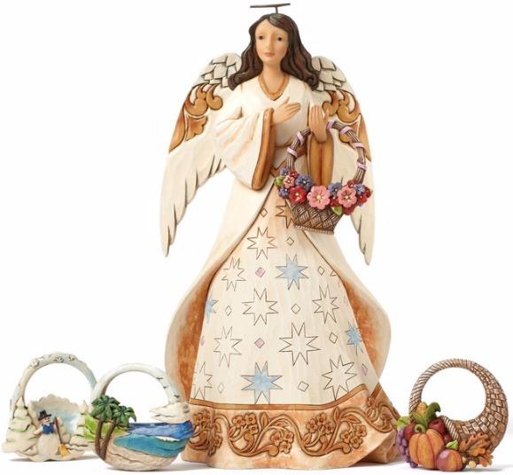 Jim Shore 4051419 Set 5 Seasonal Ange Figurine