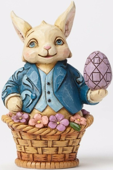 Jim Shore 4051424 Easter Bunny in Bas Figurine