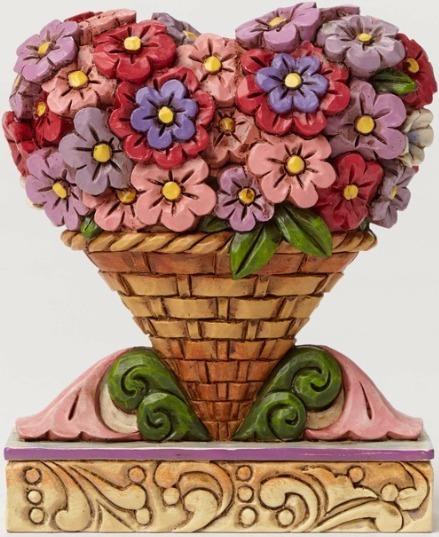 Jim Shore 4051426 Flower Heart Bouque Figurine