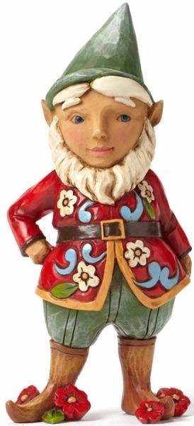 Jim Shore 4051430 Gnome Flowers Figurine