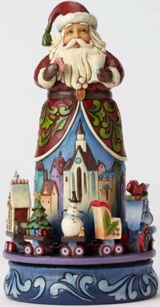 Jim Shore 4051543 Santa Moveable Trai Figurine