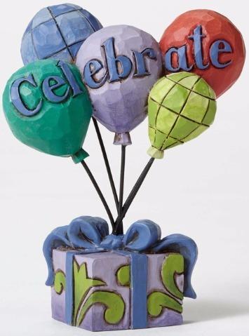 Jim Shore 4052068 Celebrate Balloons Figurine