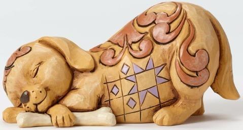 Jim Shore 4052076 Pint Lazy Dog Figurine