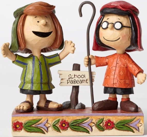 Jim Shore Peanuts 4052717 Marcie and Peppermint Patty