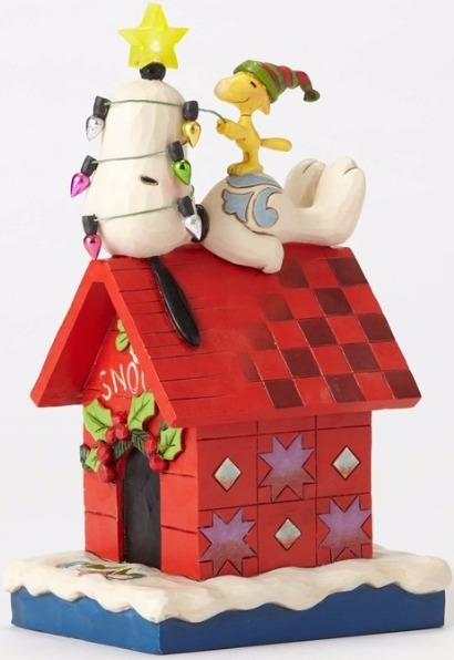 Peanuts by Jim Shore 4052719 Snoopy Light up Dog Hous