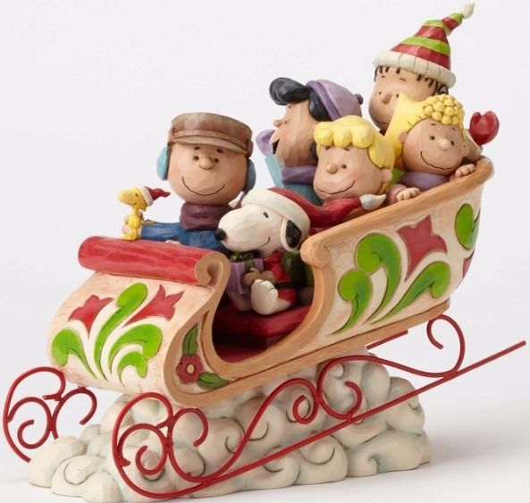 Jim Shore Peanuts 4052722 Peanut Gang Sleigh Ride