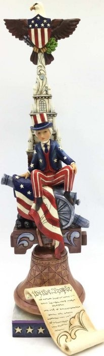 Jim Shore 4053131 Stacked Patriotic Figurine
