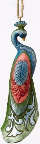 Jim Shore 4053678 Wonderland Peacock Ornament