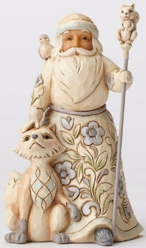 Jim Shore 4053692 Woodland Santa Fox Figurine