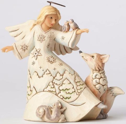 Jim Shore 4053693 Woodland Angel Animals Figurine