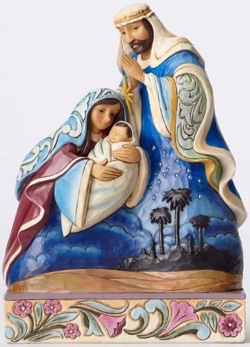 Jim Shore 4053700 Holy Family w Scene Figurine