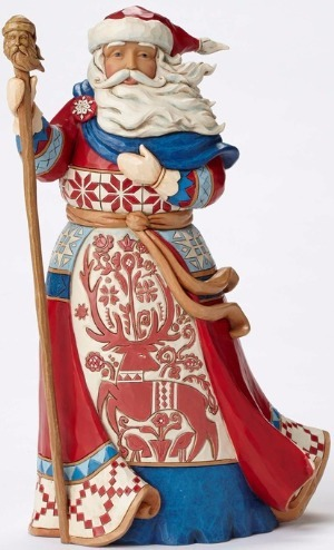 Jim Shore 4053704 Red White Lapland S Figurine