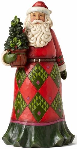 Jim Shore 4053706 Evergreen Santa Figurine
