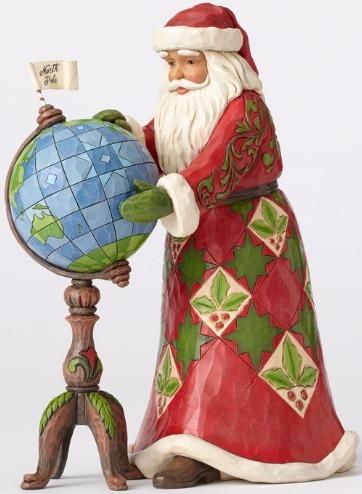 Jim Shore 4053708 Santa w Globe Figurine