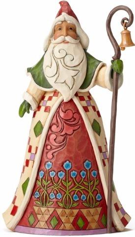 Jim Shore 4053709 Santa Cane Tri Figurine