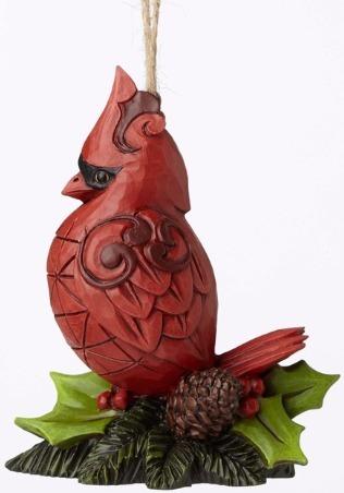 Jim Shore 4053720 Cardinal Mini Ornament