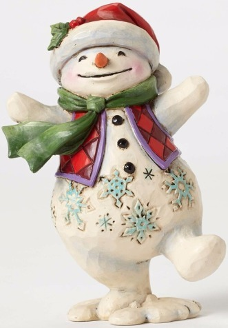 Jim Shore 4053818 Pint Walking Snowma Figurine