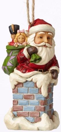 Jim Shore 4053829 Santa in Chimney Ornament