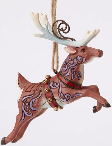 Jim Shore 4053830 Flying Reindeer Ornament