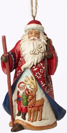 Jim Shore 4053833 Lapland Santa Toyba Ornament