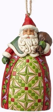 Jim Shore 4053835 Santa Toybag Ornament