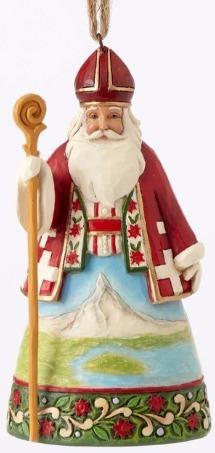 Jim Shore 4053838 Swiss Santa Ornament