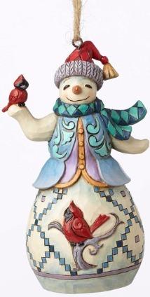 Jim Shore 4053840 Snowman Cardin Ornament