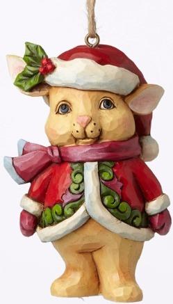 Jim Shore 4053849 Christmas Bunny Min Ornament