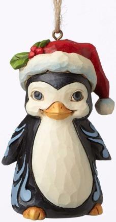 Jim Shore 4053850 Christmas Penguin M Ornament