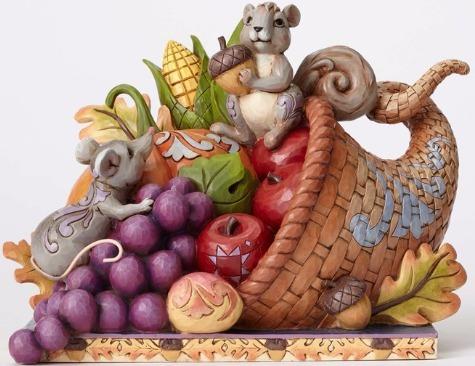 Jim Shore 4053855 Cornucopia w Animal Figurine