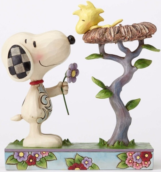 Jim Shore Peanuts 4054079 Snoopy with Woodstock