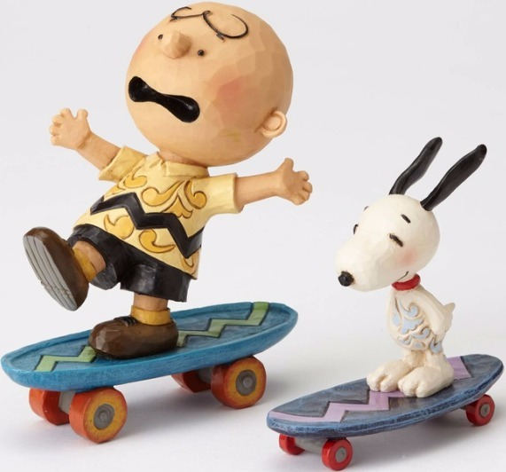 Jim Shore Peanuts 4054080 Charlie Brown and Snoopy