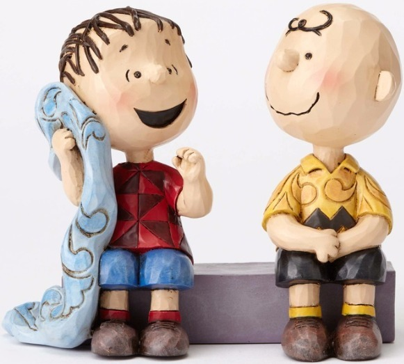 Jim Shore Peanuts 4054081 Charlie Brown and Linus