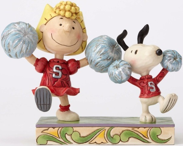 Peanuts by Jim Shore 4054083 Cheerleading Sally and S